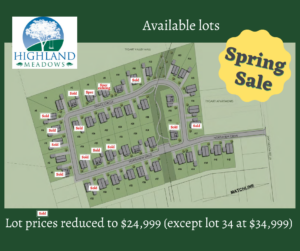 Spring Sale on all lots